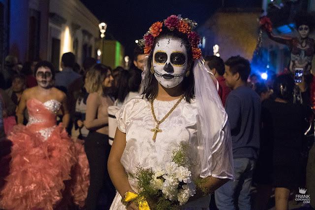 Catrina en el día de muertos en Oaxaca