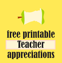 round-up of free teacher appreciation printables