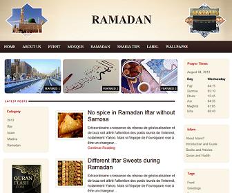 Ramadan Blogger Template untuk Blog Khusus tentang Ramadhan