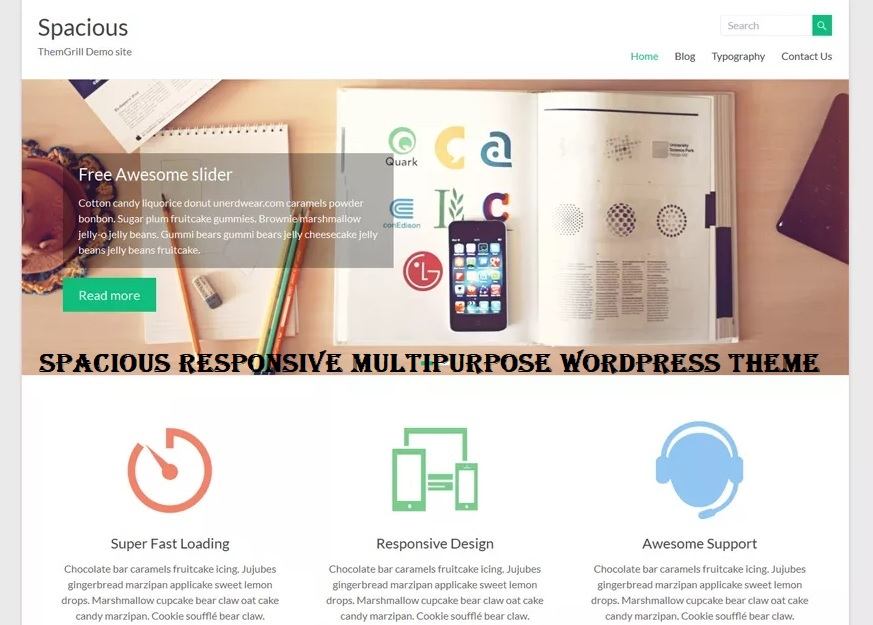 Spacious Responsive Multipurpose WordPress Theme Free Download