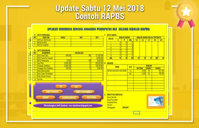 Update Sabtu 12 Mei 2018 Contoh RAPBS