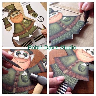 Paper puppet Leprechaun DIY - Robin Davis Studio