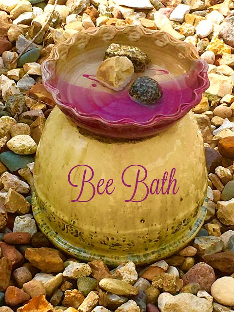 Bees, gardening, water