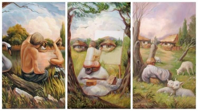 Penjelasan Dan Contoh Karya Seni Rupa 2 Dimensi
