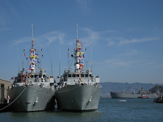 HMCS Brandon and HMCS Yellowknife, Pier 19, San Francisco, California