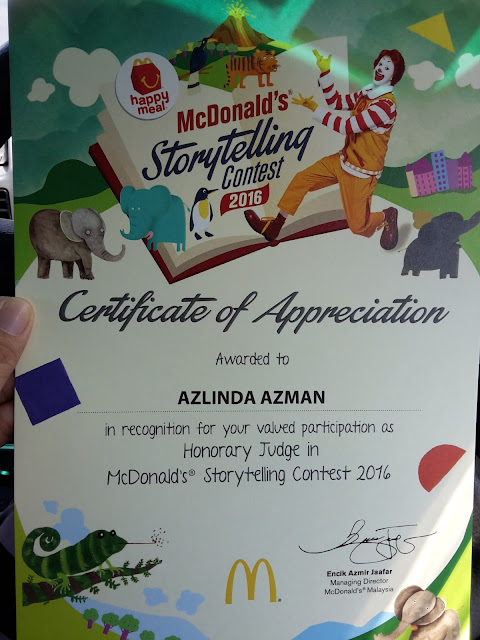 Pengalaman Sebagai Pengadil di McDonald's Storytelling Contest 2016
