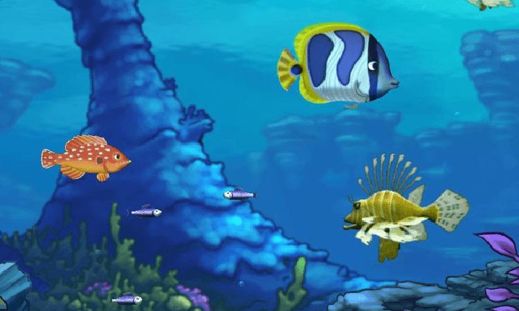 تحميل لعبة السمكة القديمة feeding frenzy للكمبيوتر