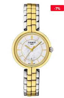 Ceas elegant auriu-argintiu dama Tissot T0942102211101