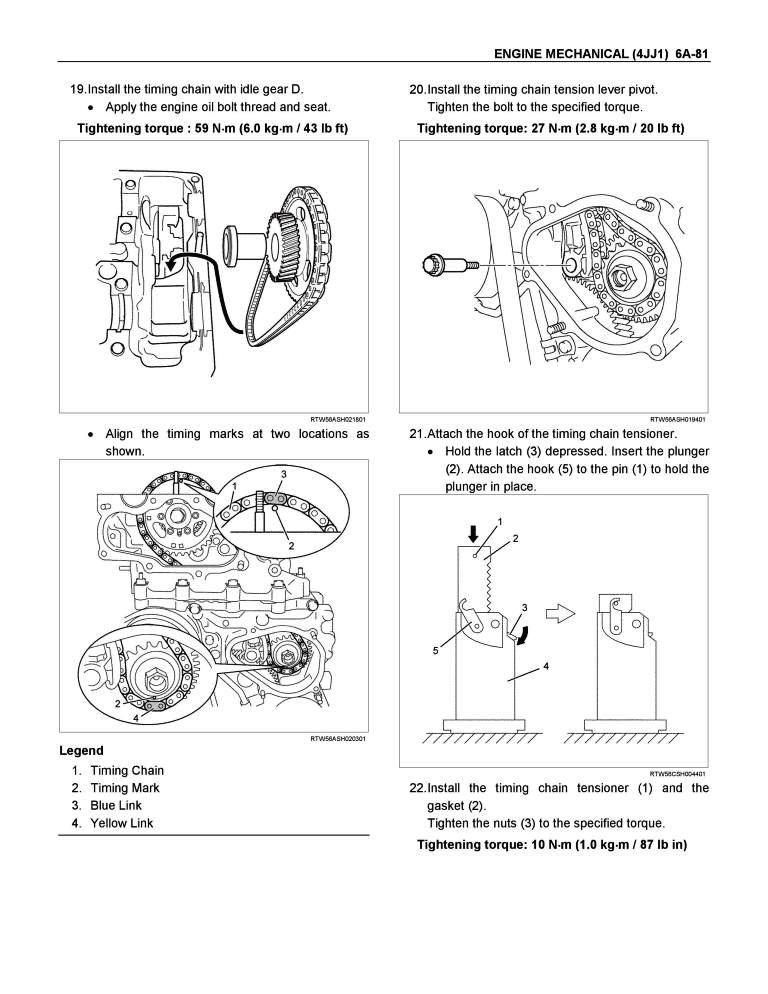 Isuzu 4jj1 service Manual Key