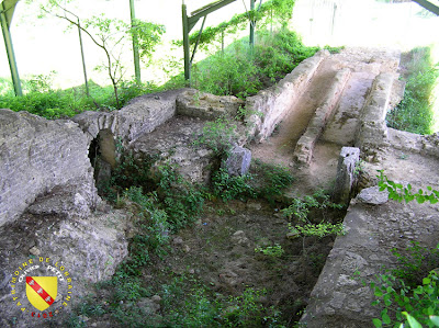 Le bassin de sortie de l'aqueduc de Gorze à Ars-sur-Moselle