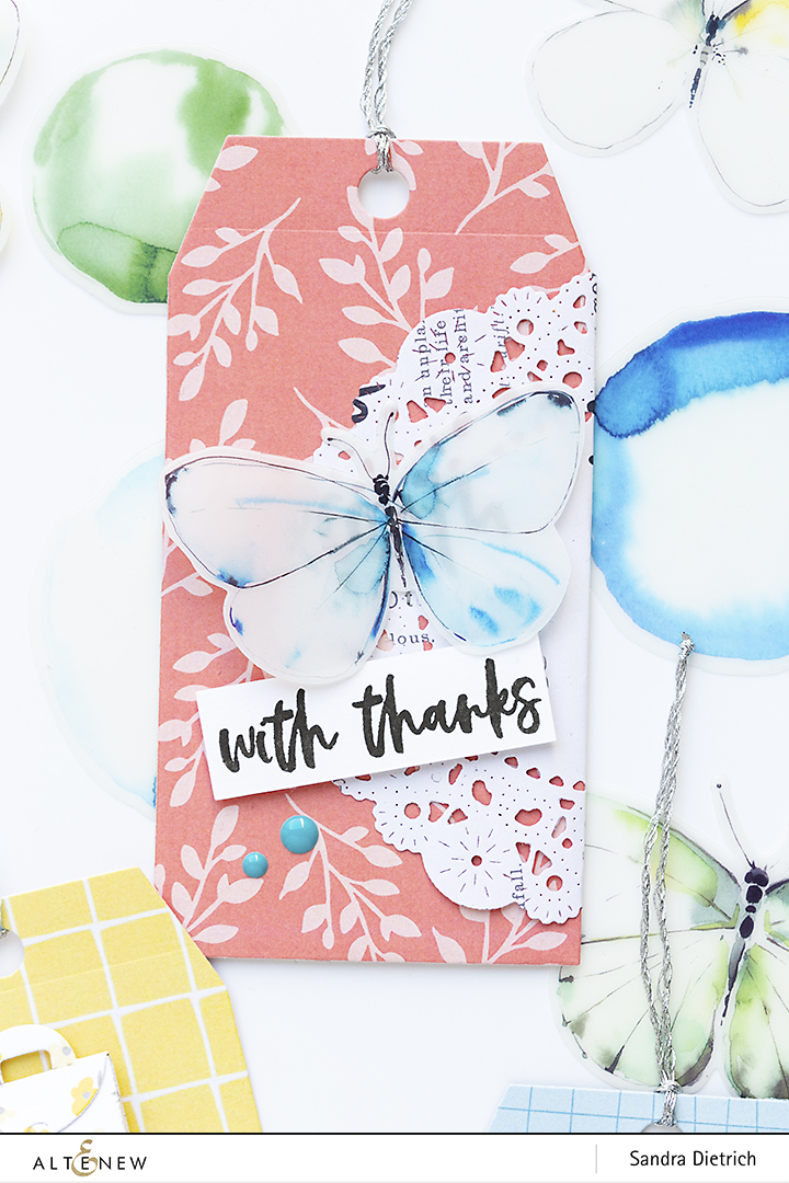 Altenew | Pastel Dreams Paper Pad | Gift Tag with thanks
