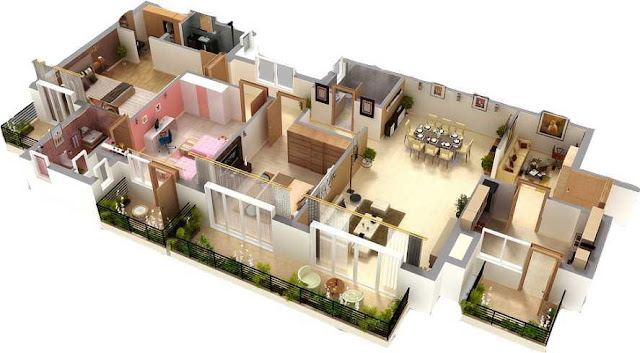 beautiful large house floor plans with one bedroom double sitting areas double outdoor balcony in design of floor plan