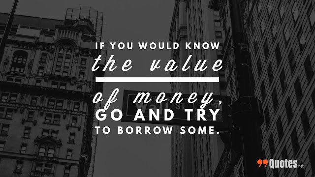 value of money quote
