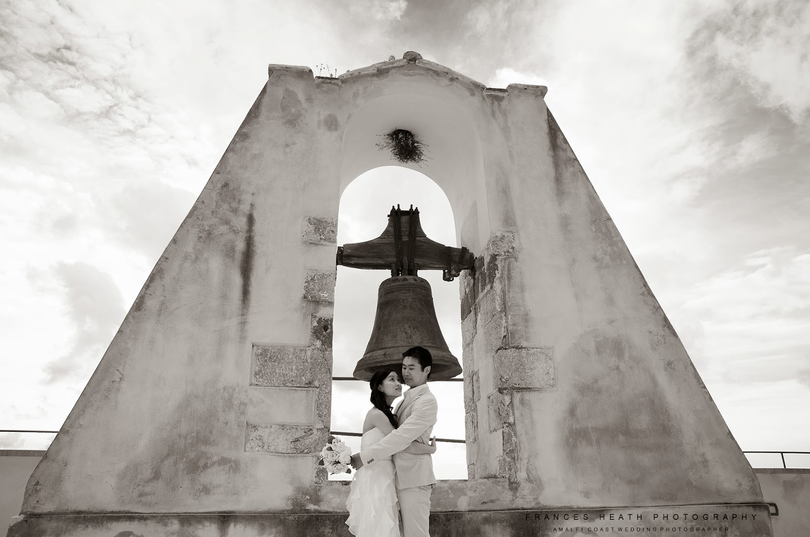 Bride and groom at Hotel Convento