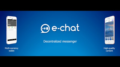 e-chat two-in one massaging and crypto wallet app