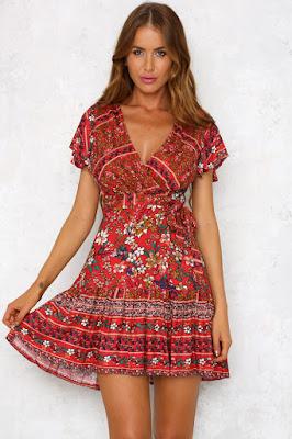 vestidos estampados para dama