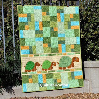 Double-Jumble-Turtles-Kids-Child-Green-Quilt-Pattern