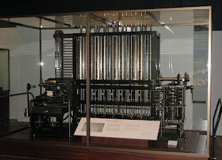 The London Science Museum's difference engine, the first one actually built from Babbage's design.