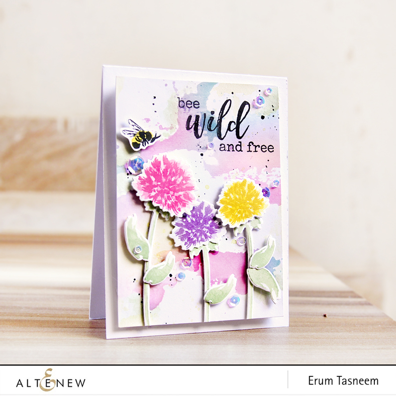 Altenew Wild About You Stamp and Die set | My Family Scrapbook Collection | Erum Tasneem | @pr0digy0