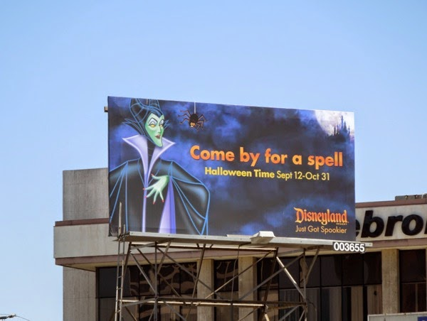 Disneyland Halloween Time Maleficent billboard 2014