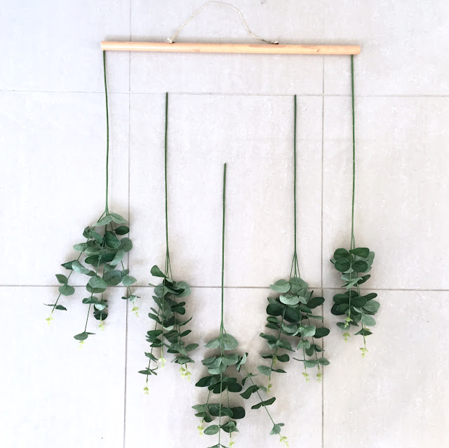 DIY Eucalyptus Wall Hanging Harlow and Thistle 3