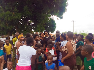 Chika Ike pays visit to the children of soldiers who lost their lives during active duty (see photos)