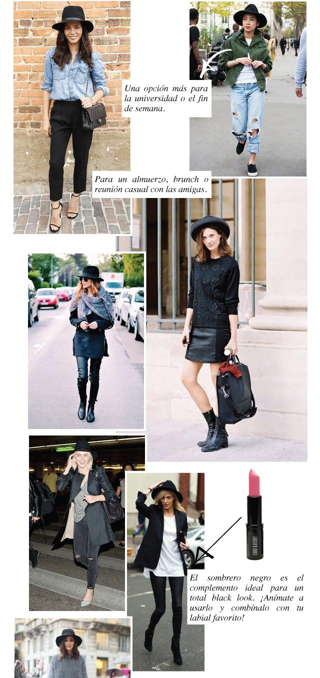 24 formas de usar un sombrero negro este otoño (y también este ... 6b9c9d551cb