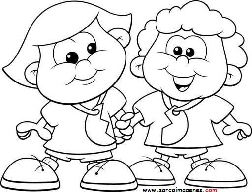 Dibujos Para Colorear Del Dia Del Amor Y La Amistad
