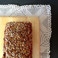 Pão de mistura com sementes de girassol e abóbora
