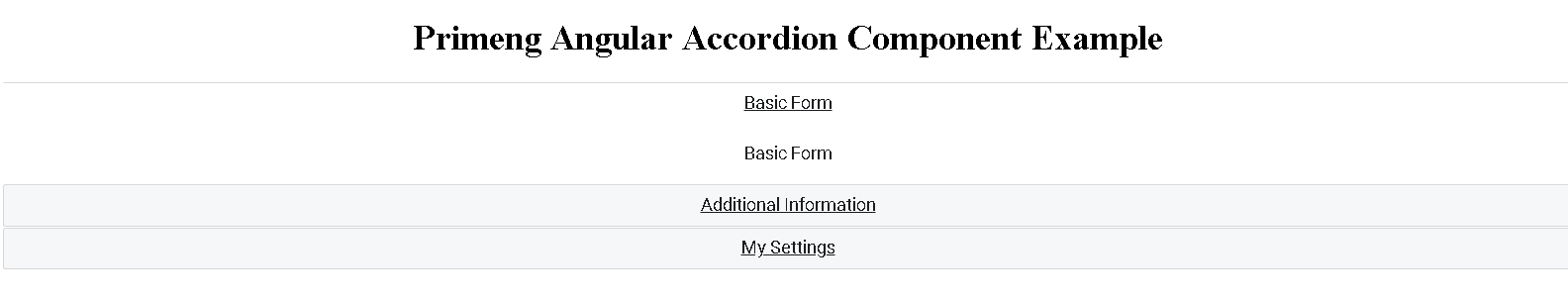 primeng Accordion Angular Example