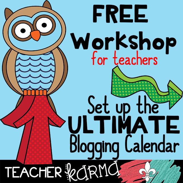 FREE Blogging Workshop for Teachers TeacherKARMA.com