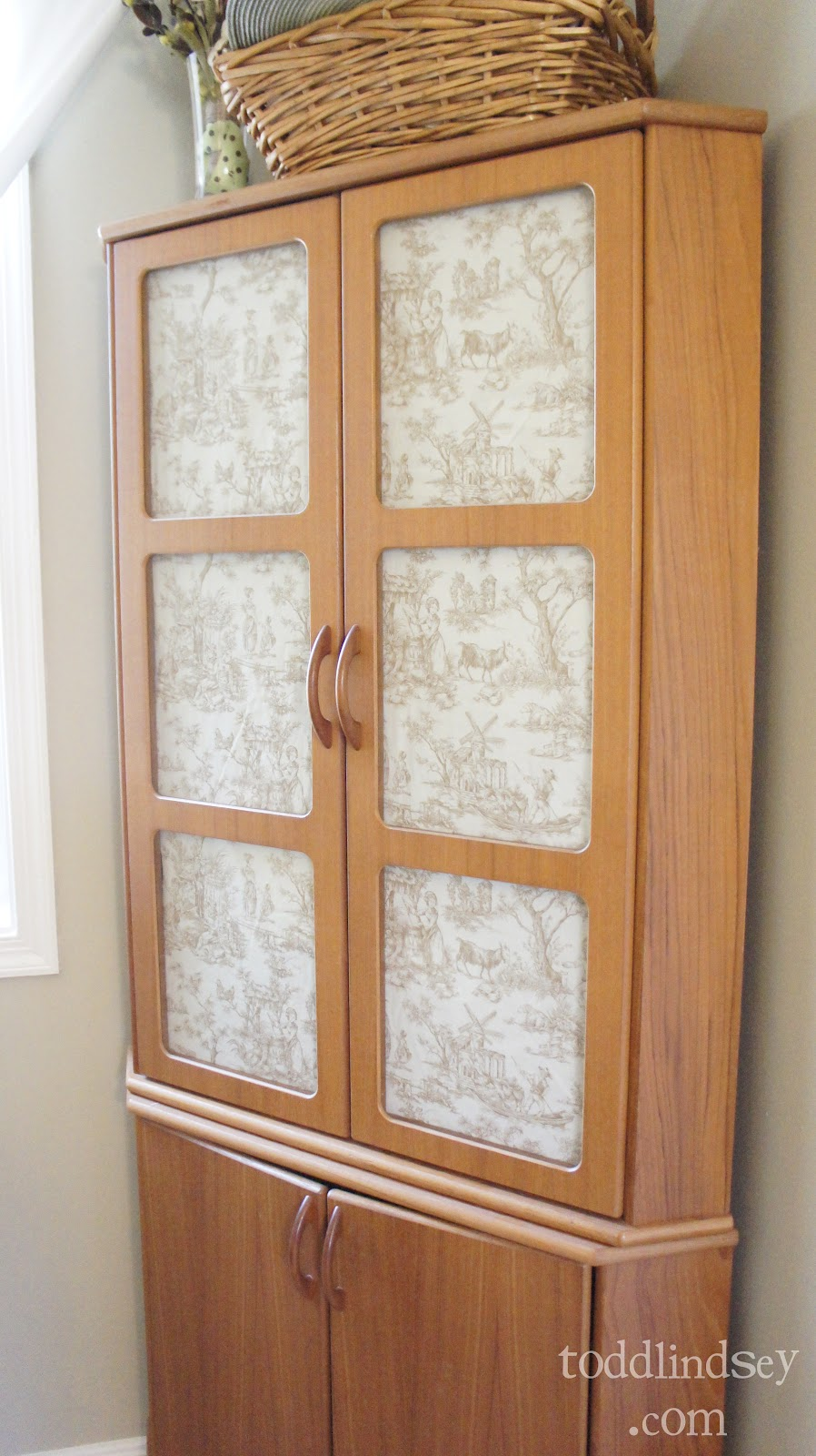 Domer Home: Fabric Backed Cabinet Doors