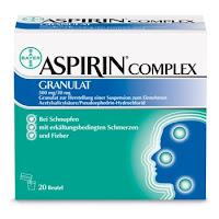 poza cutia medicamentului Aspirin Complex granule de la Bayer pentru raceala, gripa, nas infundat si durere in gat