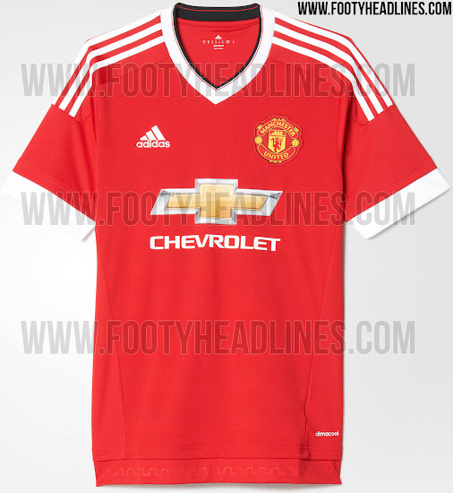 Adidas Manchester United 15-16 Kit with Clic Sponsors - Footy ...