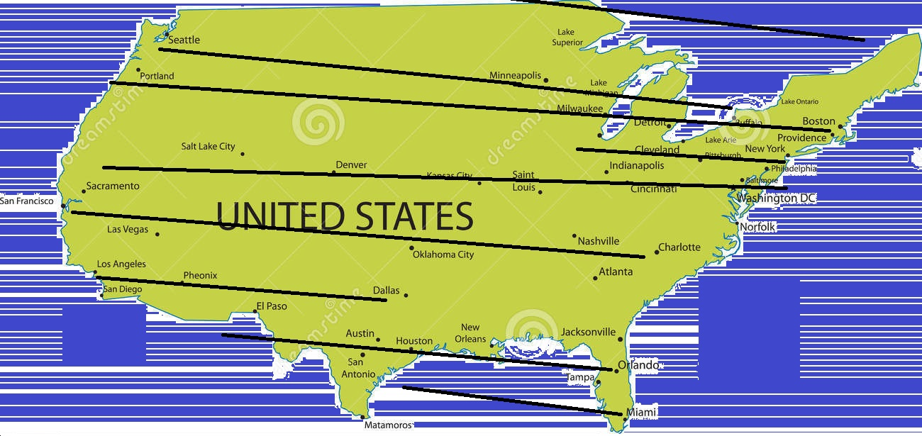 map of n american big pro sports 9 latitudes of sporty towns
