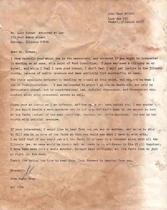 Killing Killers: John Wayne Gacy Innocent?