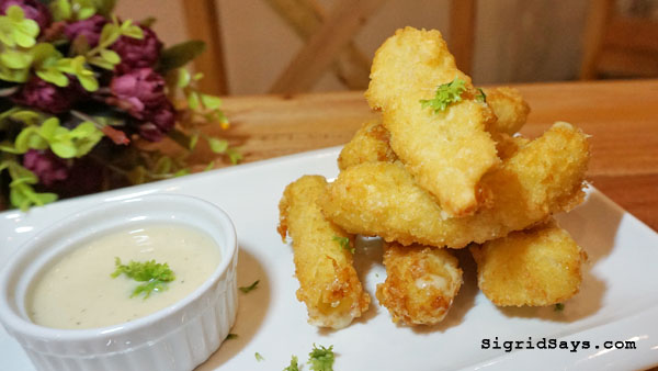 Squad Bistro - Bacolod restaurants - mozzarella sticks