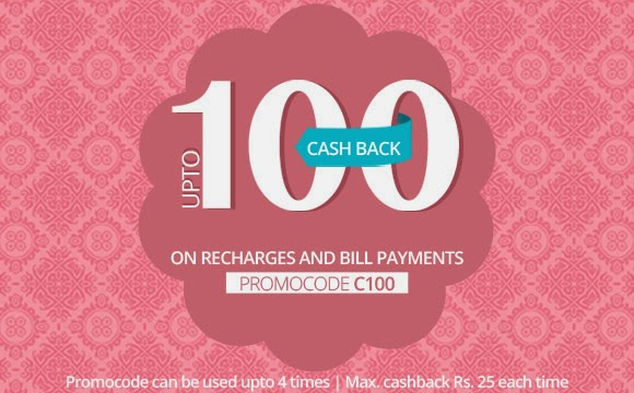 Up to Rs.100 Cash Back on Recharges - Diwali Offer