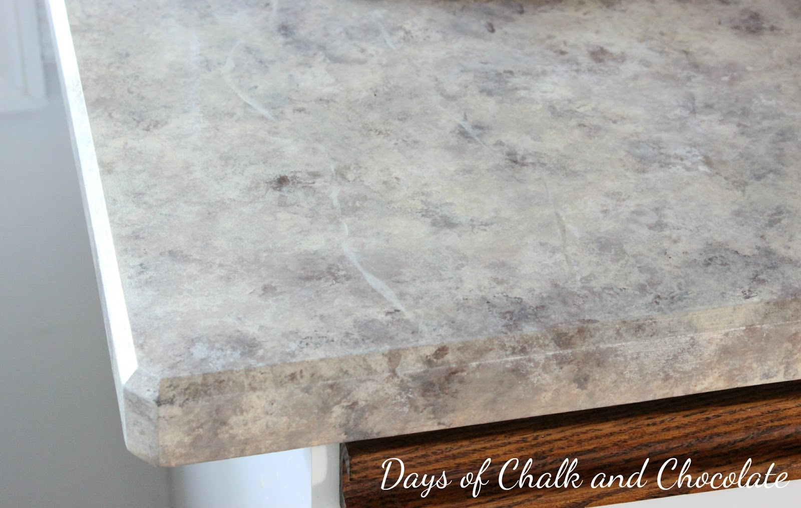 Epoxy Over Laminate Countertops Painted Faux Stone Countertops | Days Of Chalk And Chocolate