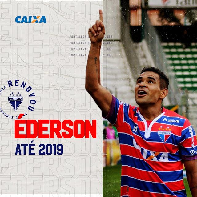 Fortaleza renova com o atacante Ederson para 2019