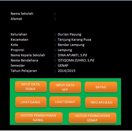 Aplikasi SPP Siswa Untuk Rekap Pemasukan dan Pengeluaran