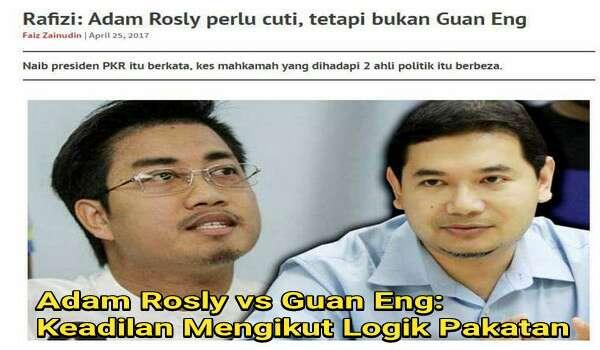 Adam Rosly vs Guan Eng: Keadilan Mengikut Logik Pakatan
