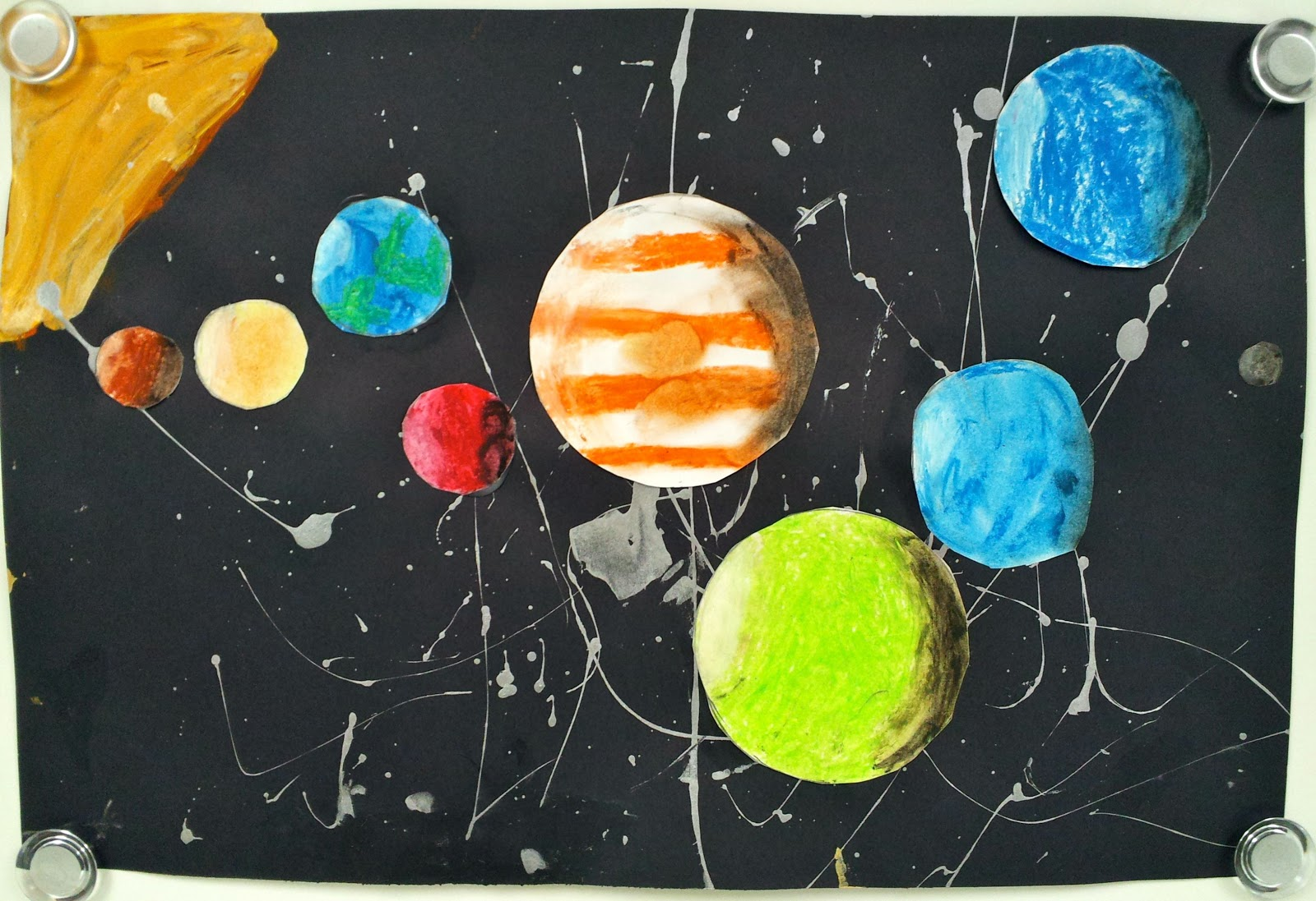 Oil Pastel Solar System Part 2 5th Art With Mrs Nguyen