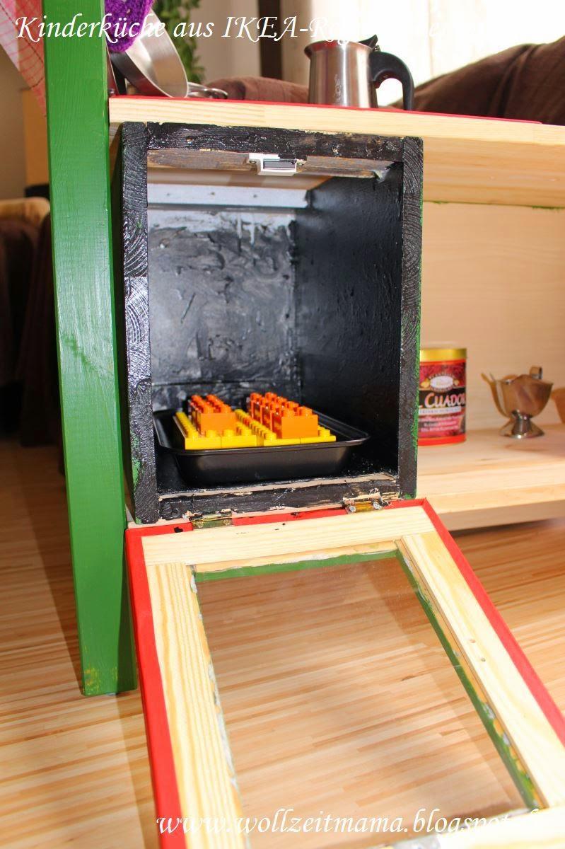 wollzeitmama kinderk che aus ikea regal selber bauen. Black Bedroom Furniture Sets. Home Design Ideas