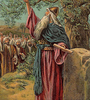 Joshua Renewing the Covenant with Israel (Bible Card)