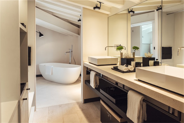 Sant Francesc hotel singular en Mallorca baño chicanddeco