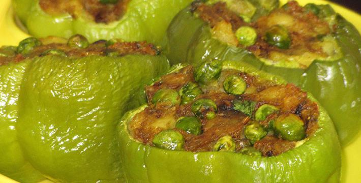 भरलेली शिमला मिरची - पाककृती | Bharaleli Shimala Mirchi - Recipe
