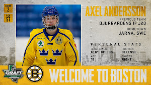 Axel Andersson, draft profile from the Bruins Twitter account