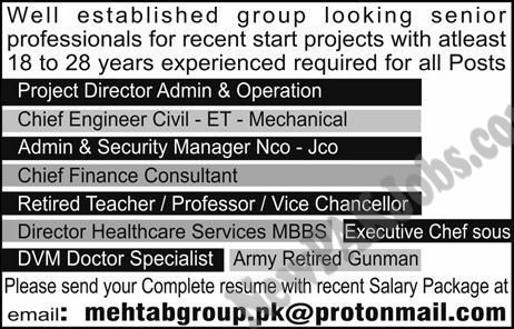 today Jobs in lahore