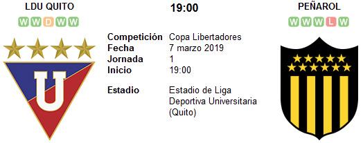 Liga de Quito vs Peñarol en VIVO